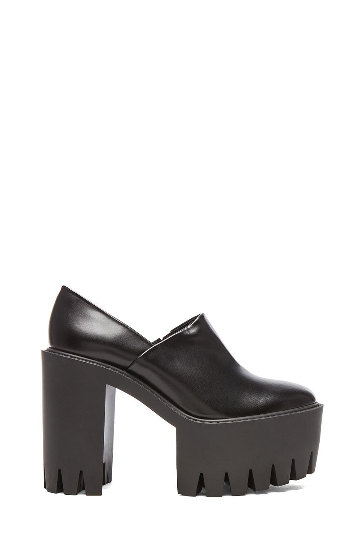 Image 1 of Stella McCartneyPlatform Faux Leather Creeper Heels in Black