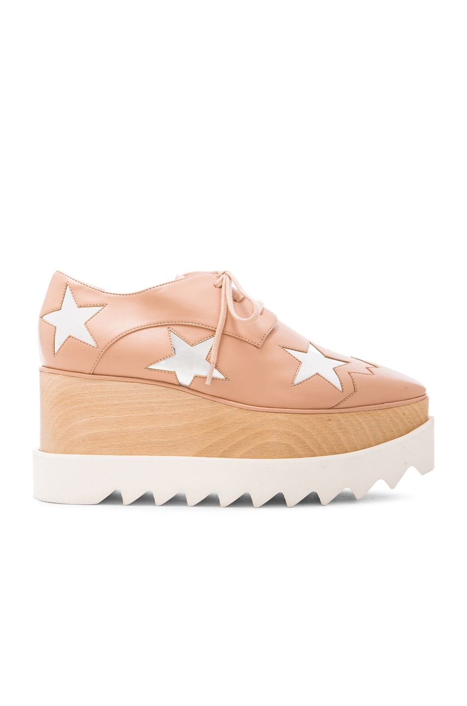 Image 1 of Stella McCartney Star Faux Leather Wedges in Powder