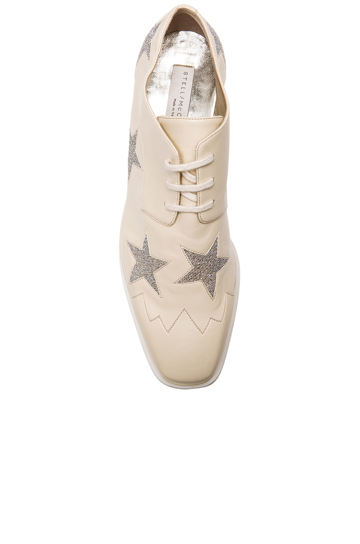 abe712fa39d6 Image 4 of Stella McCartney Elyse Star Platform Shoes in Ecru   Osmium