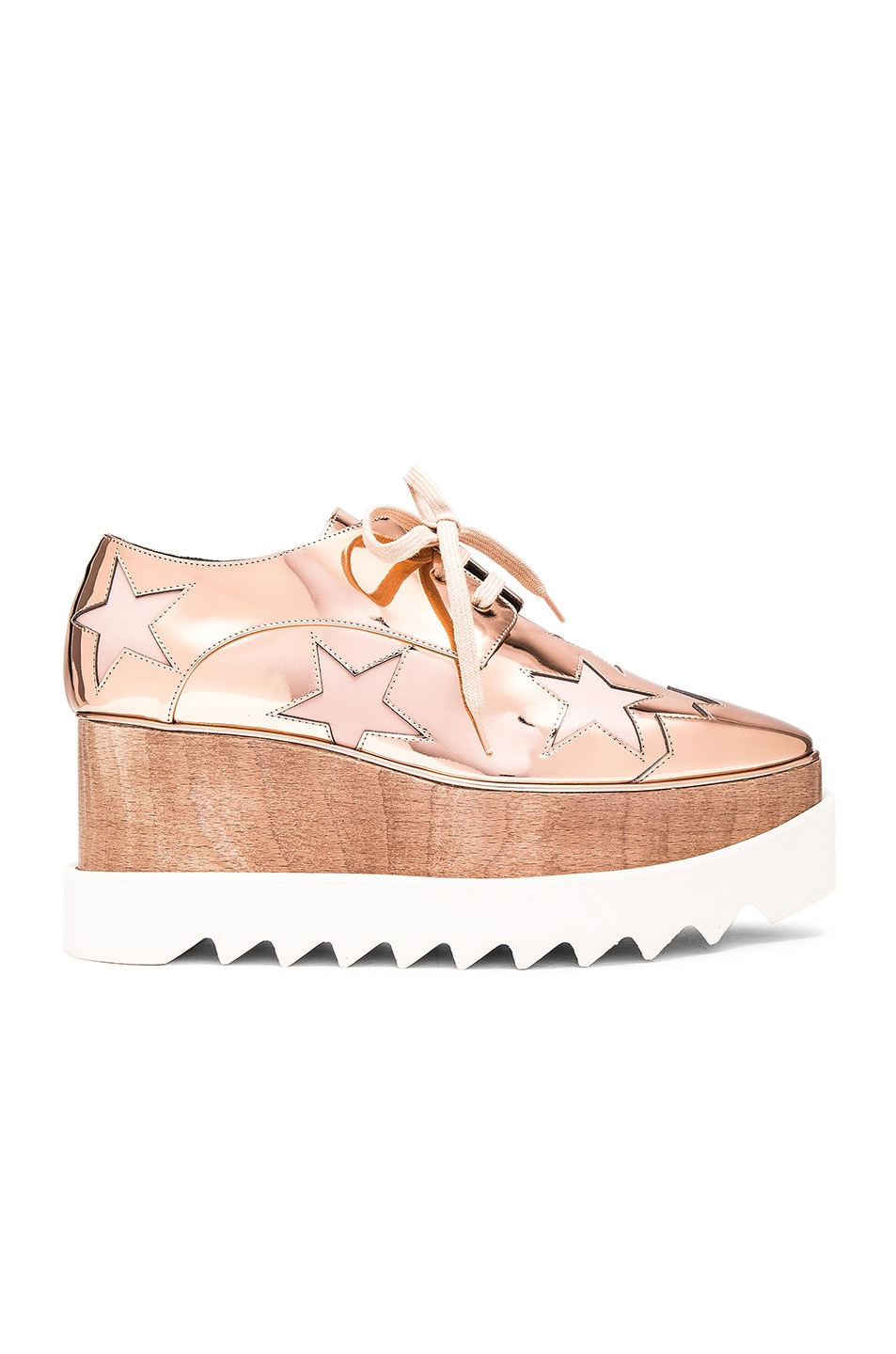 Stella McCartney Elyse Star Platform Shoes in Metallics,Geometric Print, .