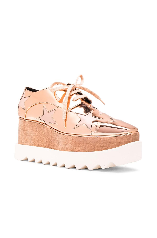 Stella McCartney Elyse Star Platform Shoes in Metallics,Geometric Print, .