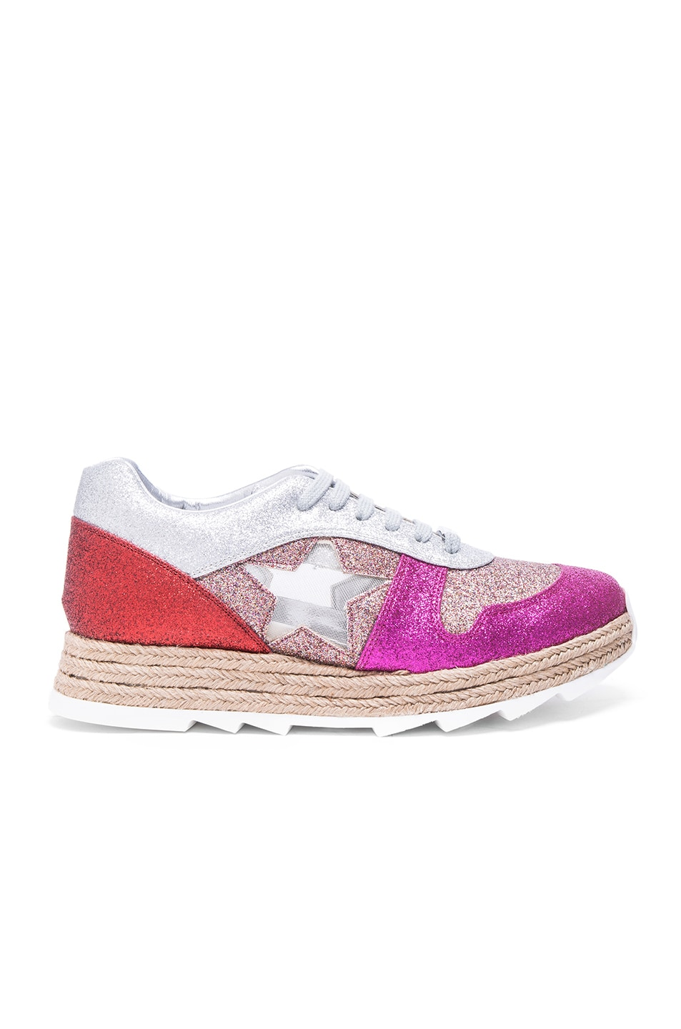 42c015649d32 Image 1 of Stella McCartney Macy Lace Up Sneakers in Multi