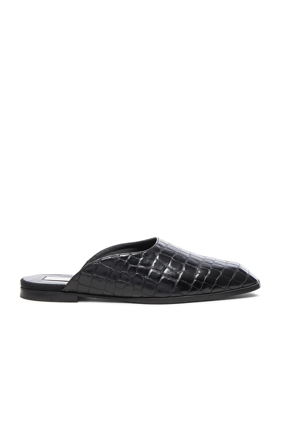 Image 1 of Stella McCartneyCroco Moccasin Slides in Black