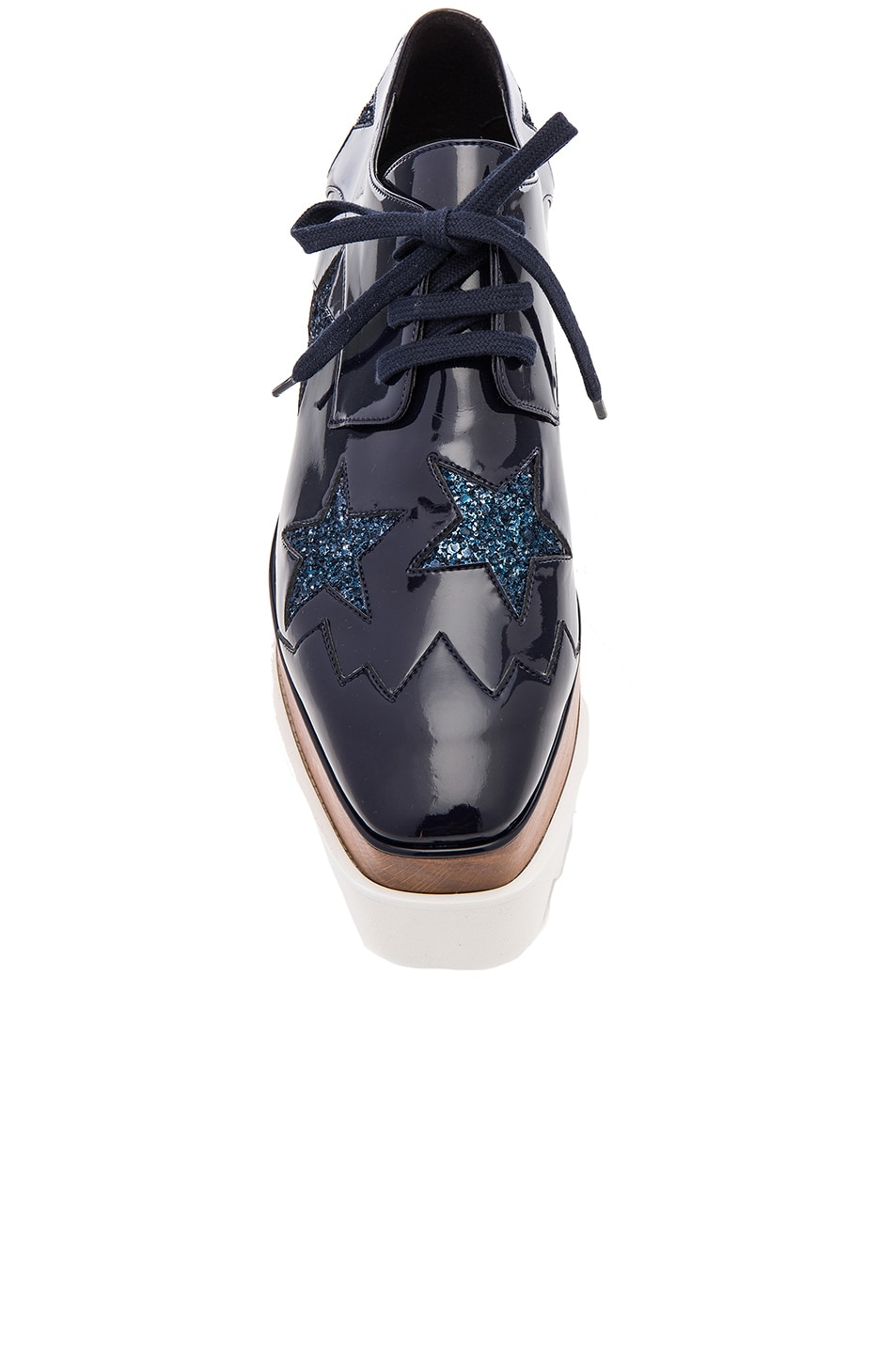 Image 4 of Stella McCartney Elyse Star Platform Shoes in Night Blue