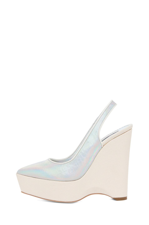 Image 1 of Stella McCartneySling Back Wedge in Prisma & White