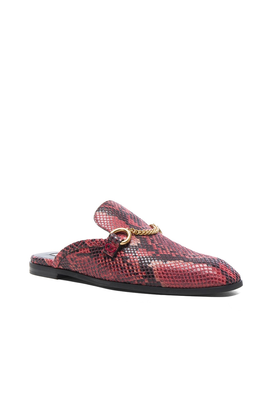 Image 2 of Stella McCartney Buckle Loafers in Tropea & Black