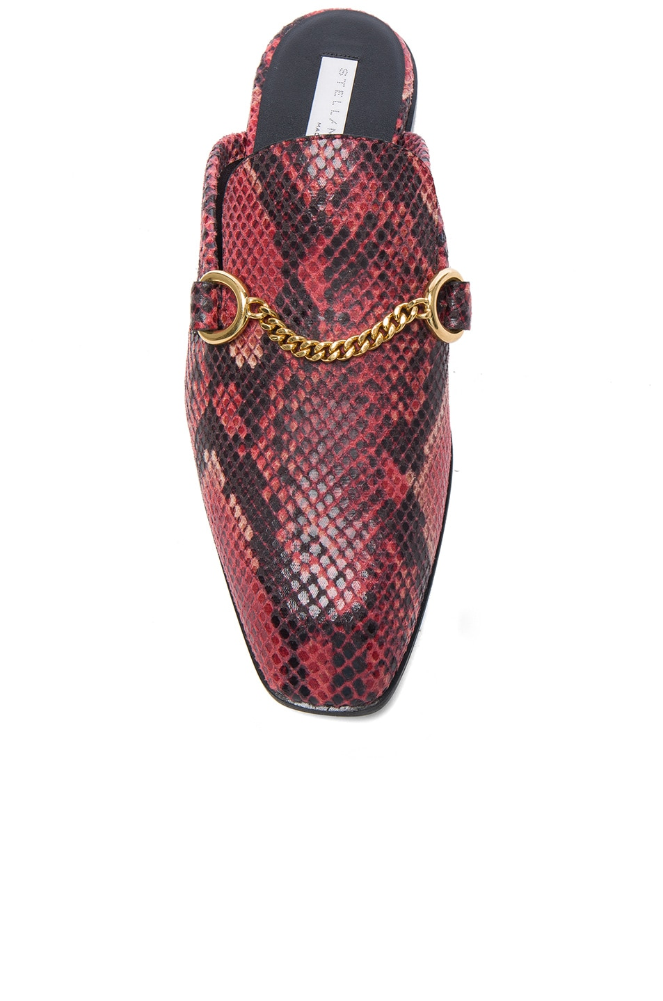 Image 4 of Stella McCartney Buckle Loafers in Tropea & Black