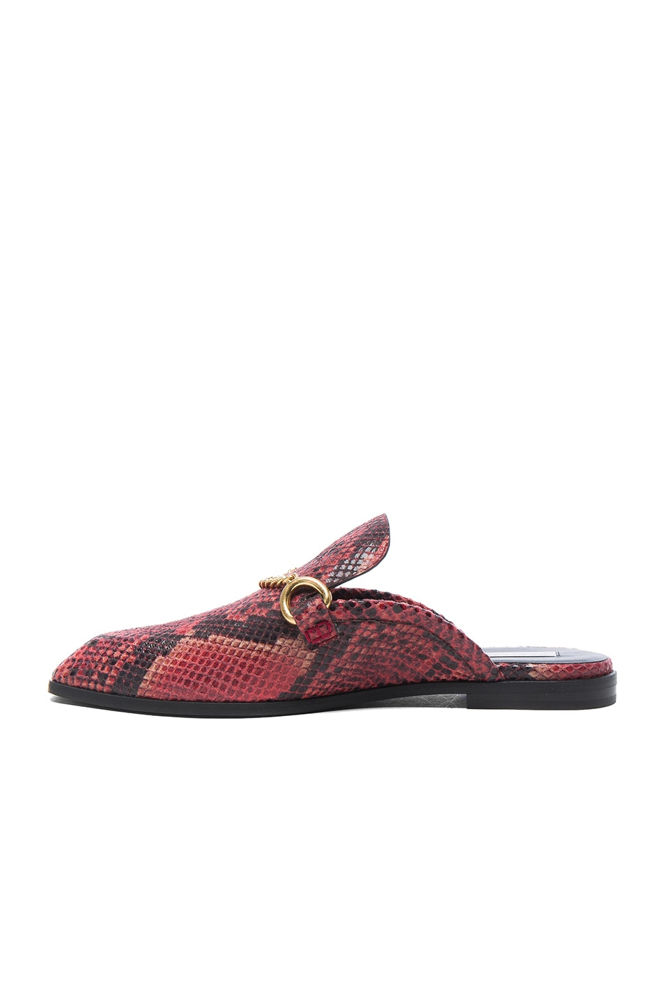 Image 5 of Stella McCartney Buckle Loafers in Tropea & Black