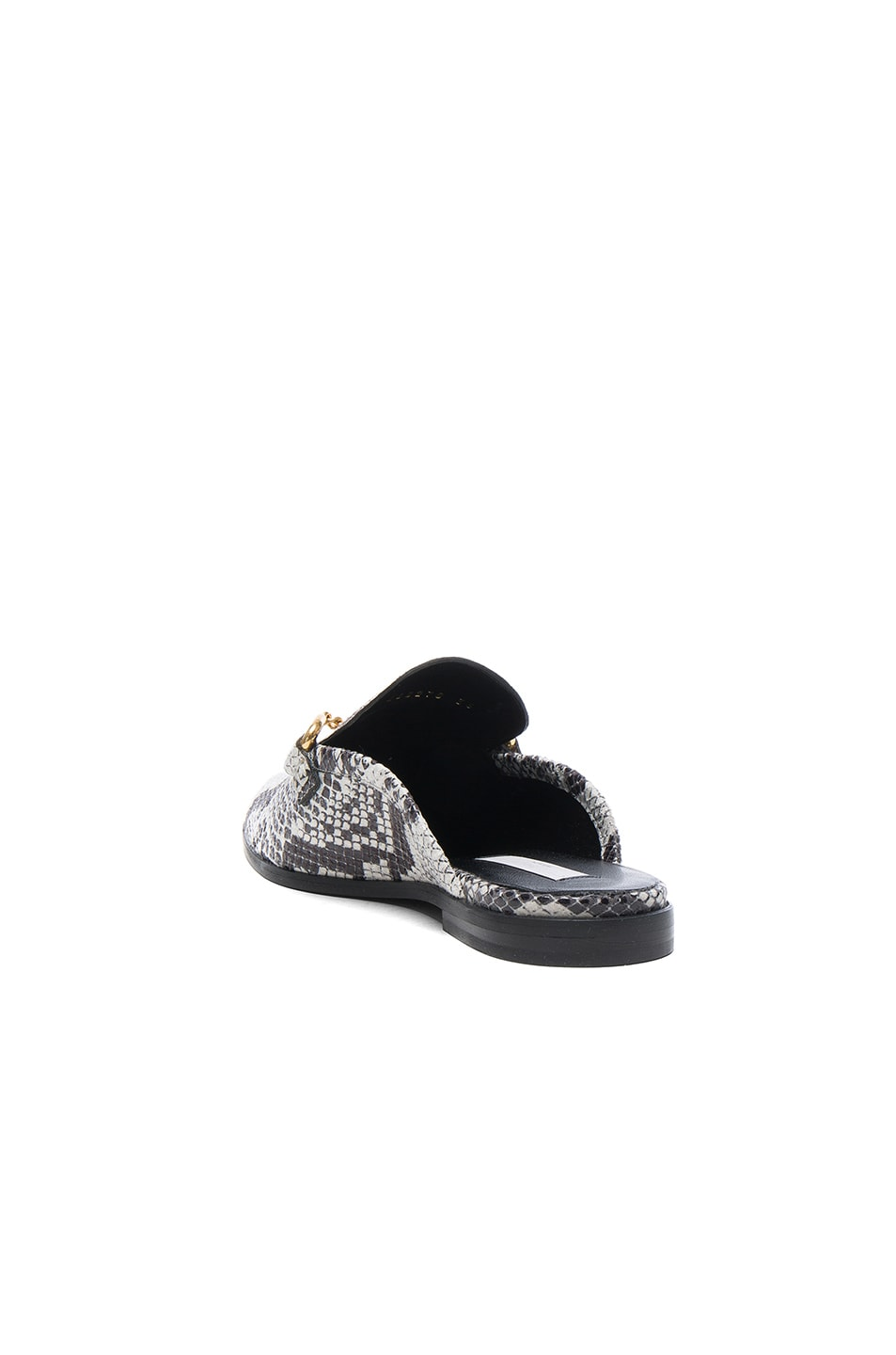 Image 3 of Stella McCartney Buckle Loafers in White & Black