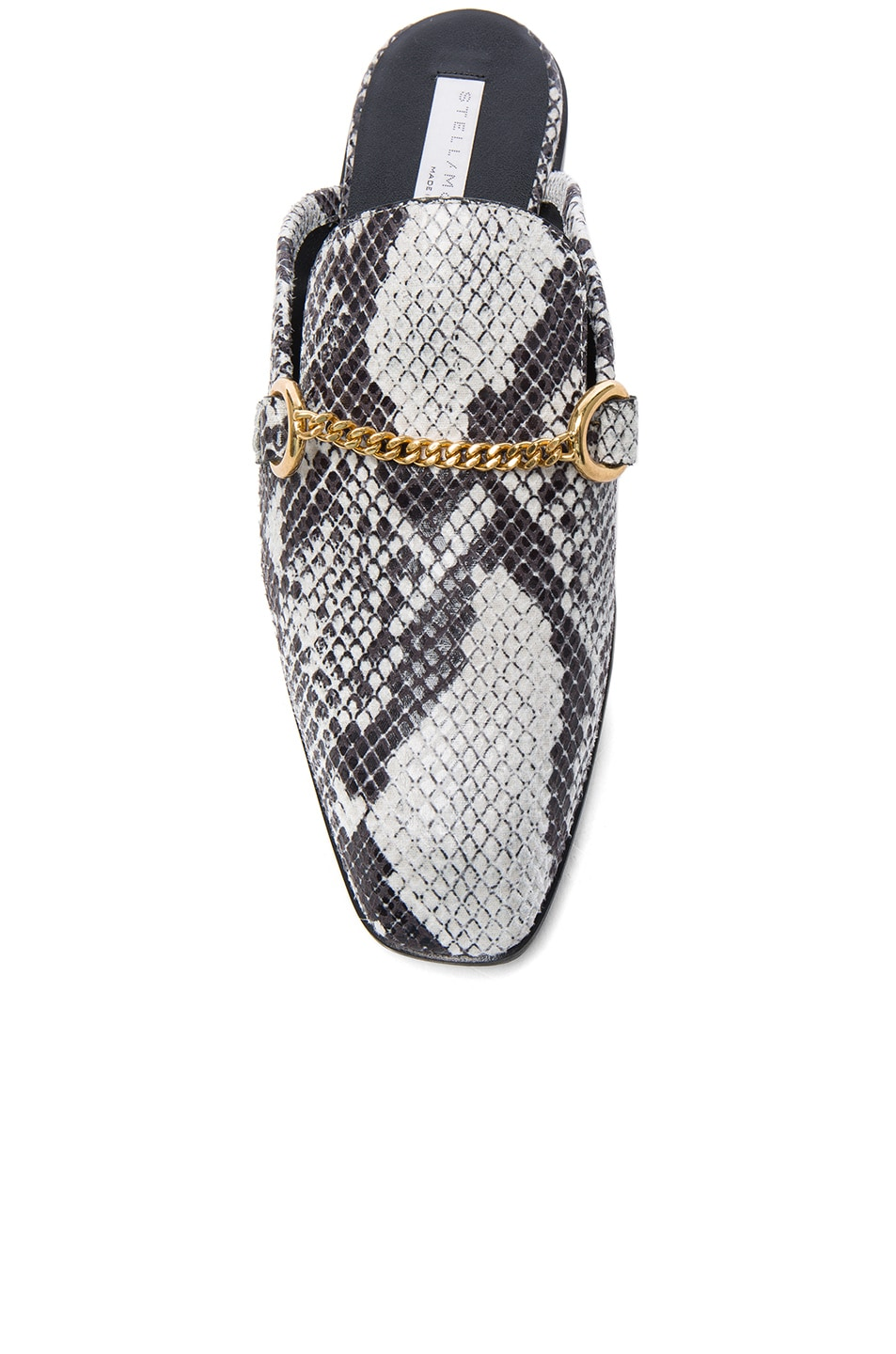 Image 4 of Stella McCartney Buckle Loafers in White & Black