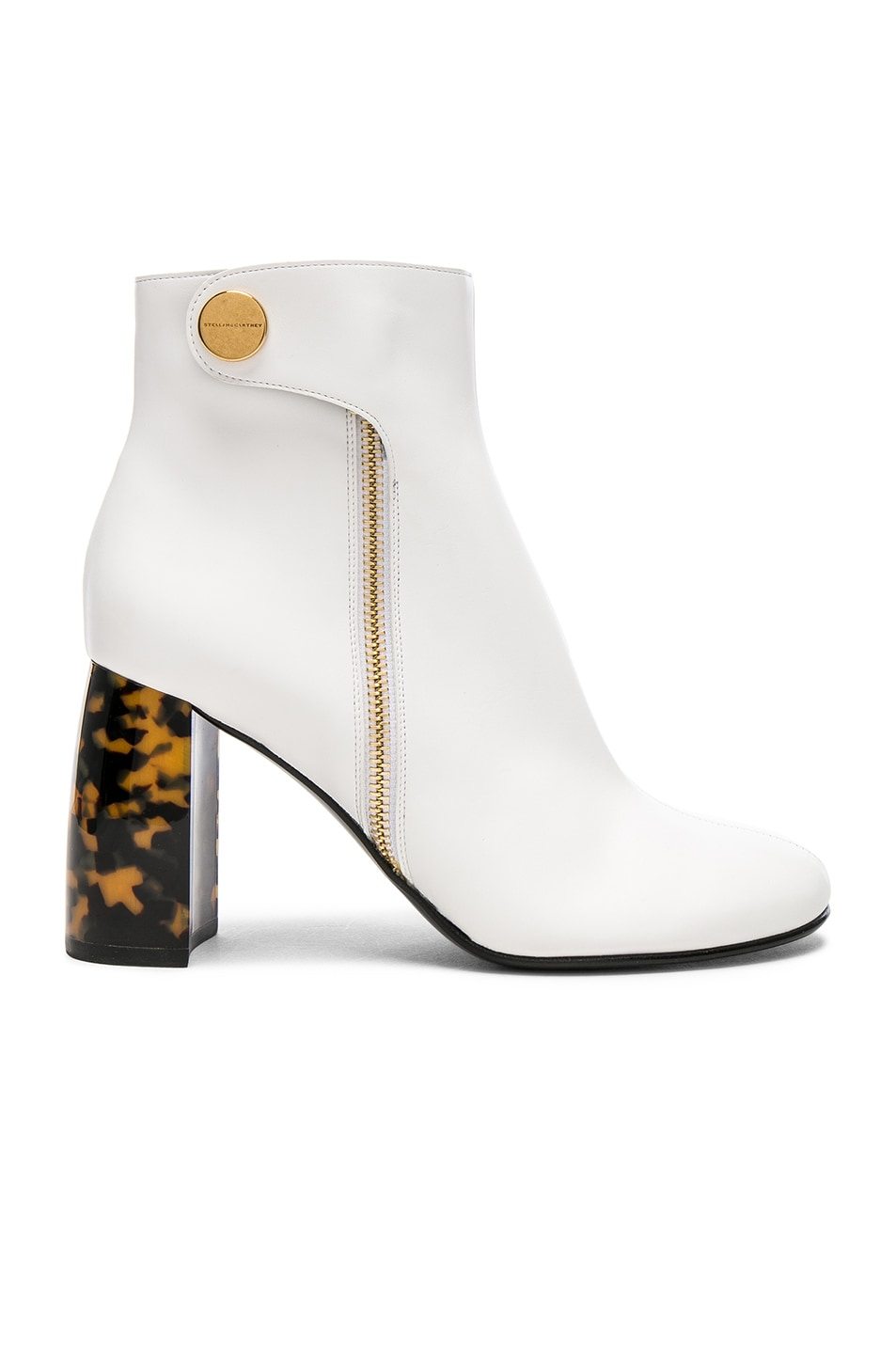Image 1 of Stella McCartney Zip Ankle Boots in White