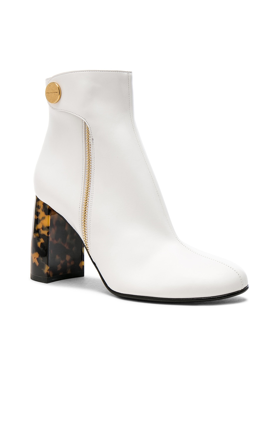 Image 2 of Stella McCartney Zip Ankle Boots in White