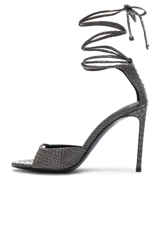 Stella McCartney Ankle Tie Heels in Lead High Quality Zjqv9ZLl