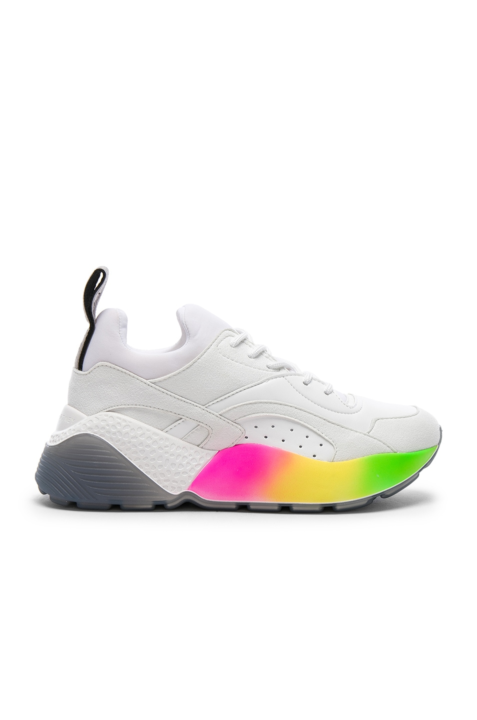 Image 1 of Stella McCartney Eclypse Rainbow Sneakers in White & Multicolor