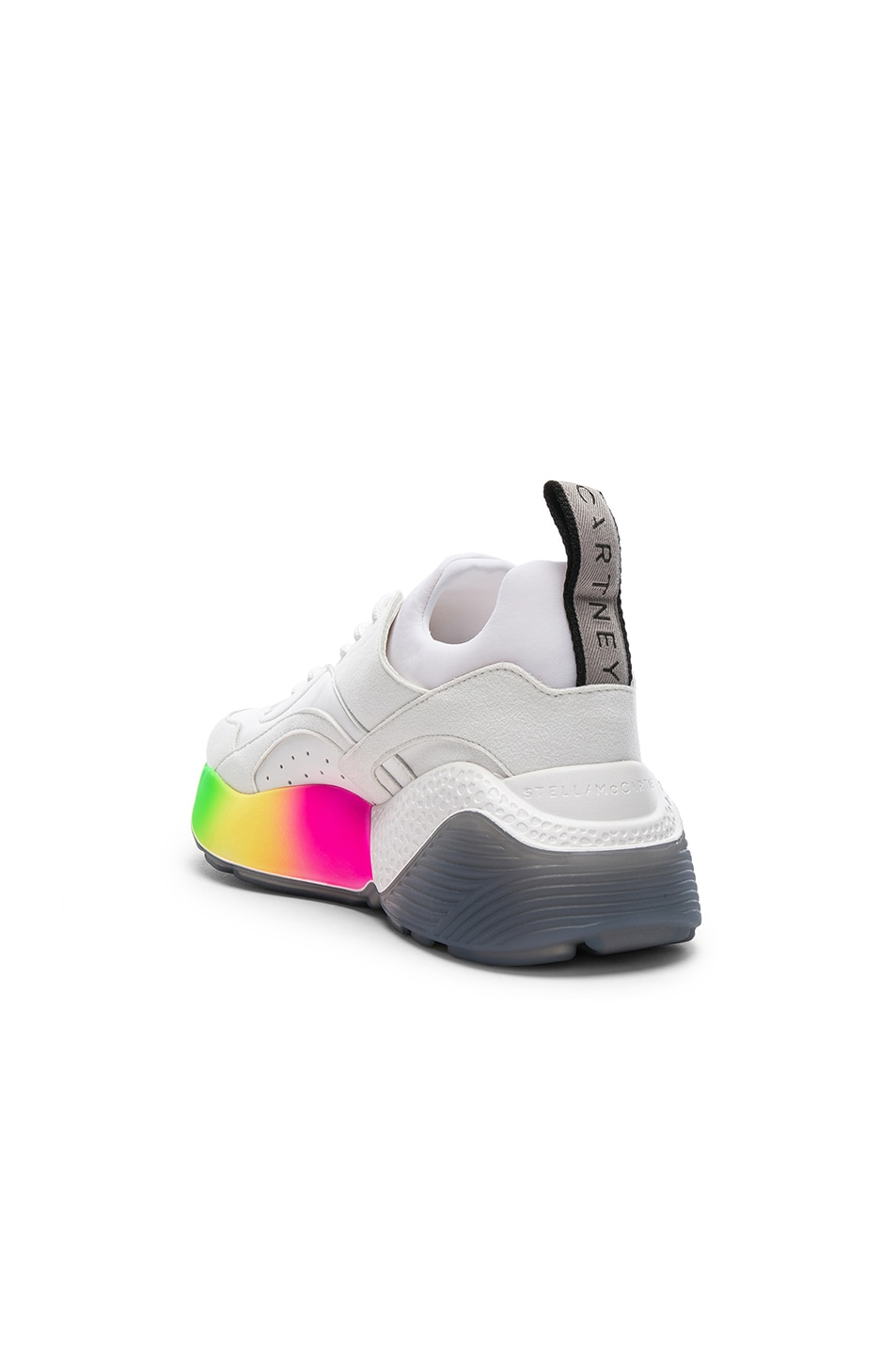 Image 3 of Stella McCartney Eclypse Rainbow Sneakers in White & Multicolor