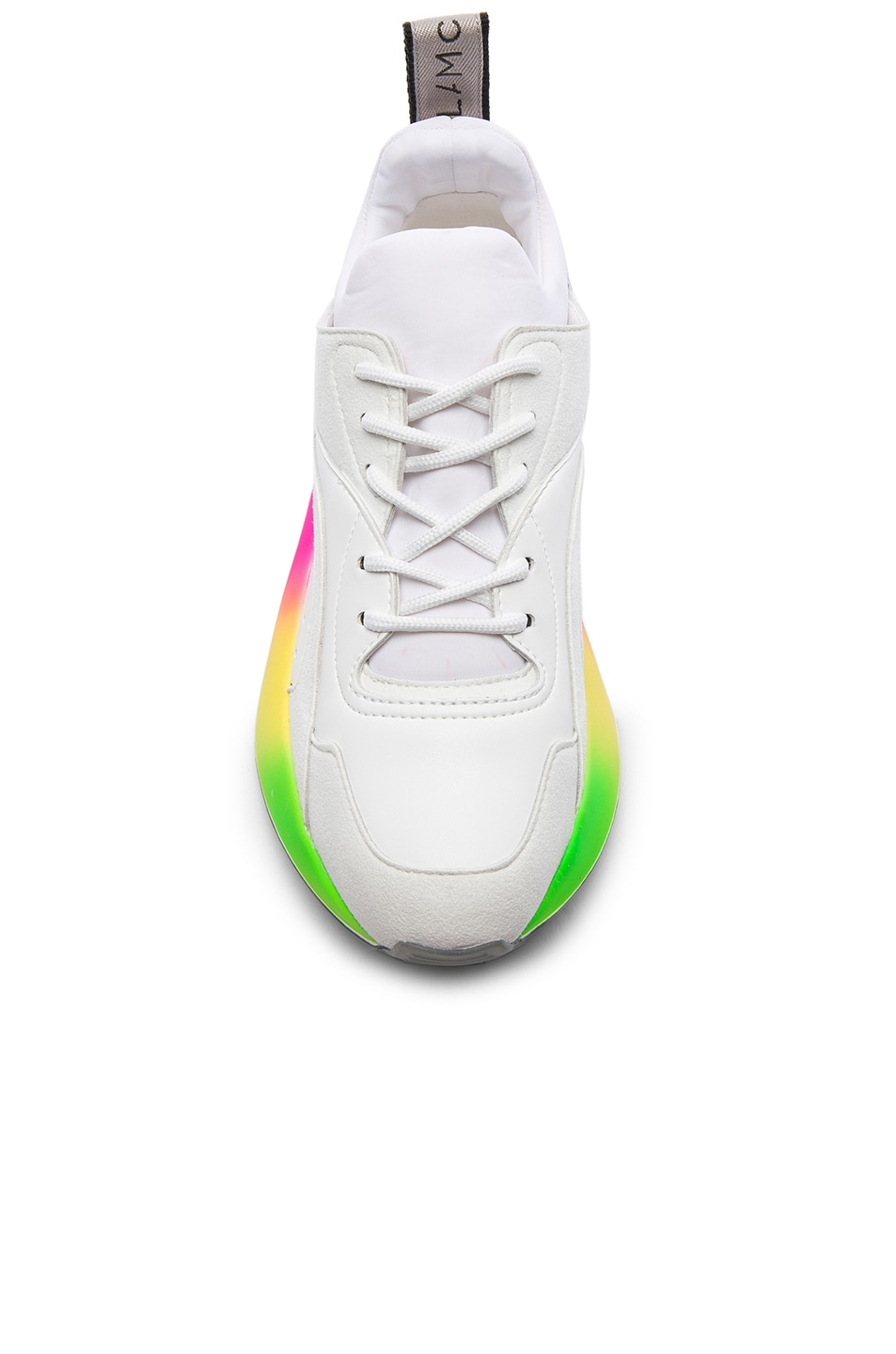 Image 4 of Stella McCartney Eclypse Rainbow Sneakers in White & Multicolor