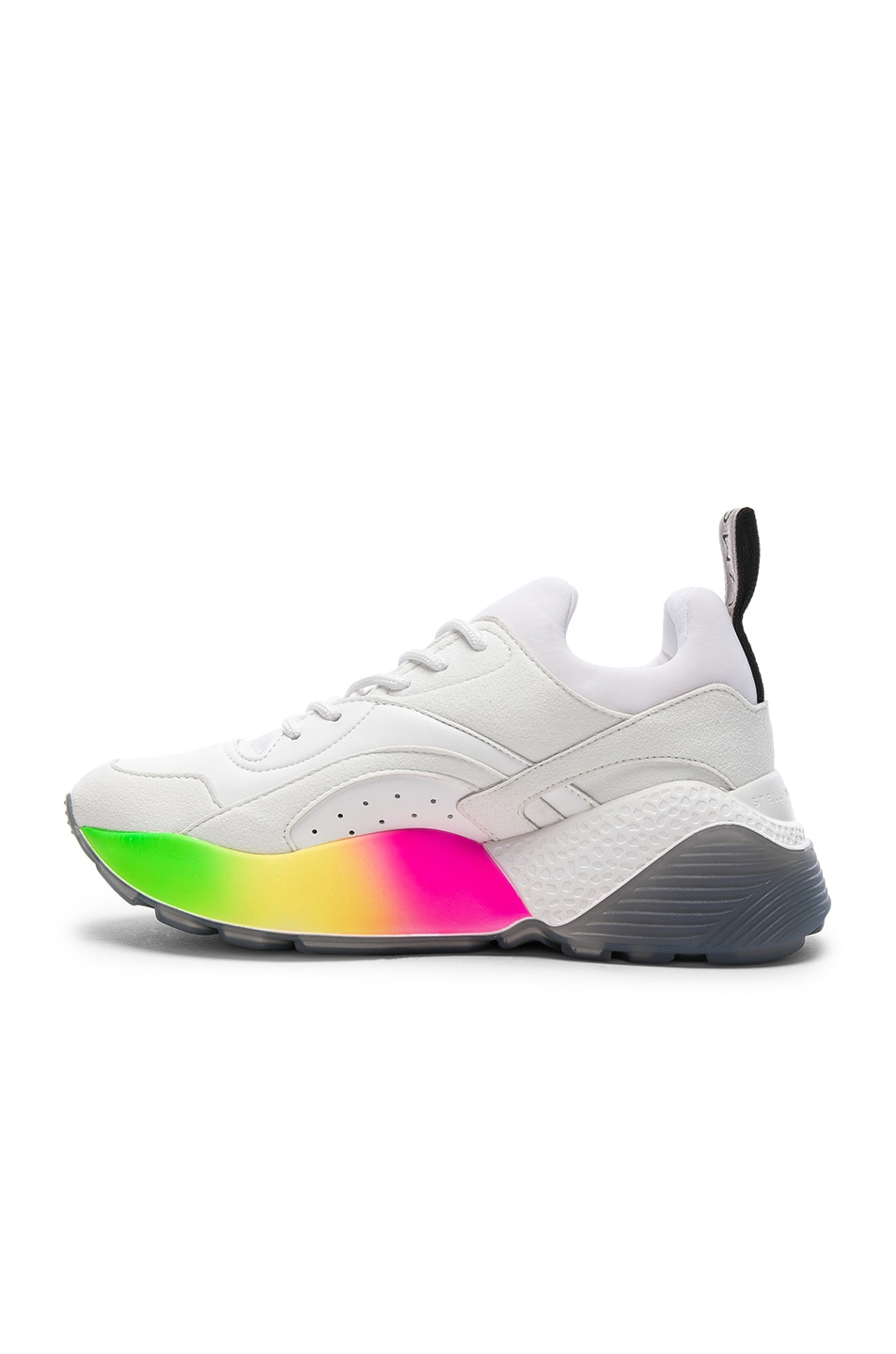 Image 5 of Stella McCartney Eclypse Rainbow Sneakers in White & Multicolor