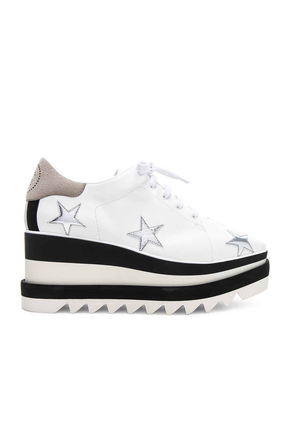 1d77c2a3859a Image 1 of Stella McCartney Star Embroidered Sneakelyse Platform Sneakers  in White
