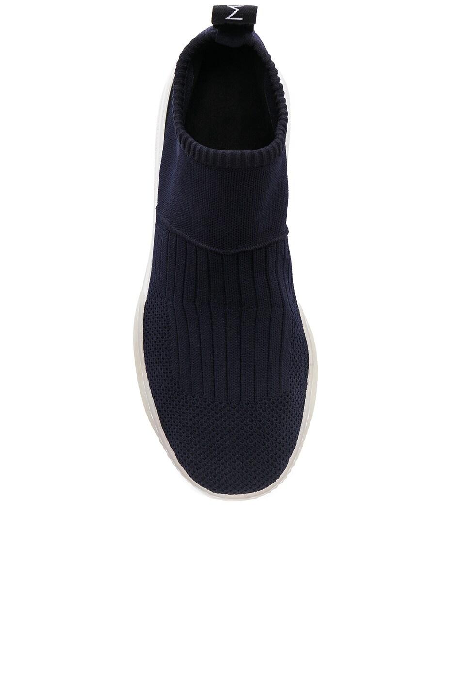 Image 4 of Stella McCartney Loop Sock Sneakers in Dark Blue, Black & White