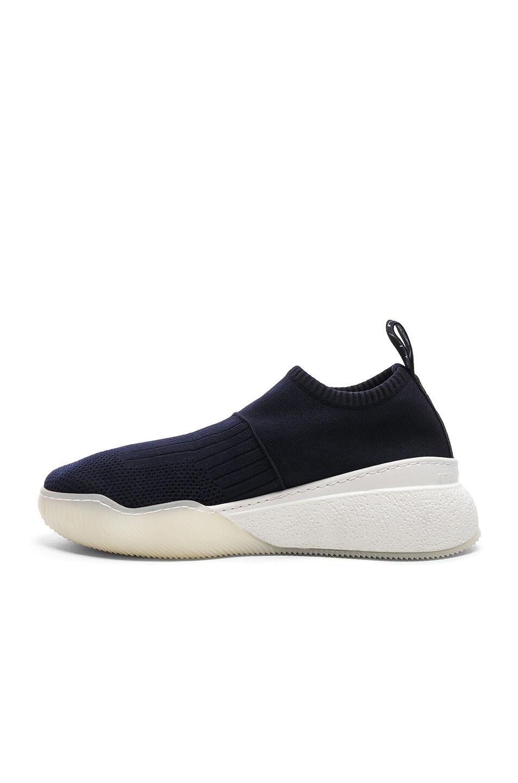 Image 5 of Stella McCartney Loop Sock Sneakers in Dark Blue, Black & White