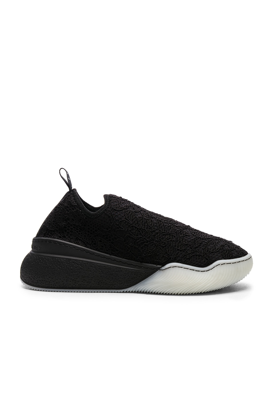 Image 1 of Stella McCartney Loop Sock Sneakers in Black & White