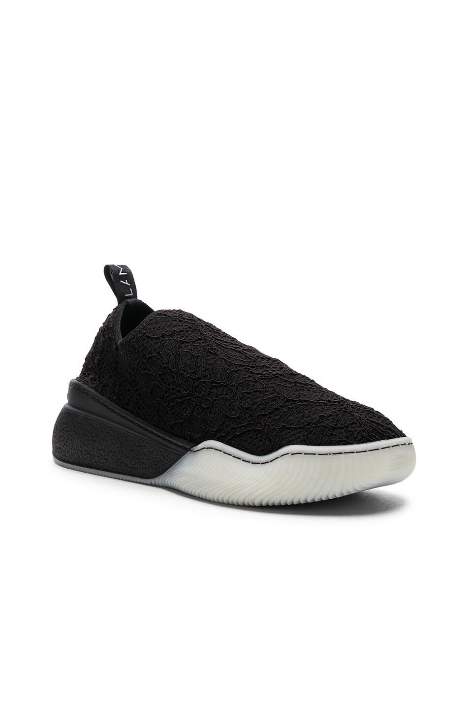 Image 2 of Stella McCartney Loop Sock Sneakers in Black & White
