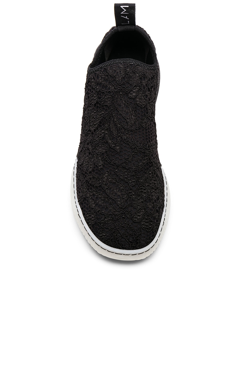 Image 4 of Stella McCartney Loop Sock Sneakers in Black & White