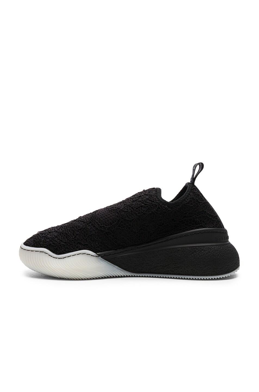 Image 5 of Stella McCartney Loop Sock Sneakers in Black & White