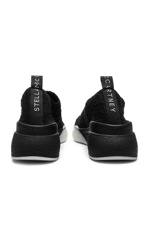 Image 7 of Stella McCartney Loop Sock Sneakers in Black & White