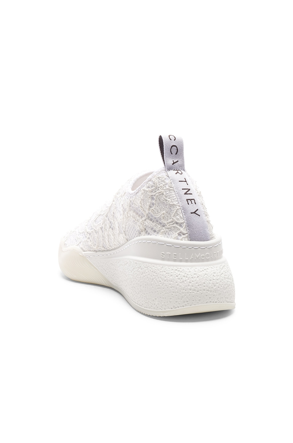 Image 3 of Stella McCartney Loop Sock Sneakers in White & Grey