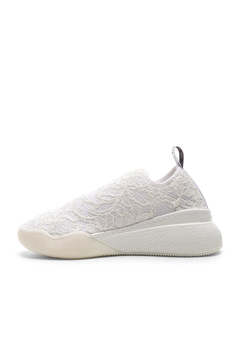 Image 5 of Stella McCartney Loop Sock Sneakers in White & Grey