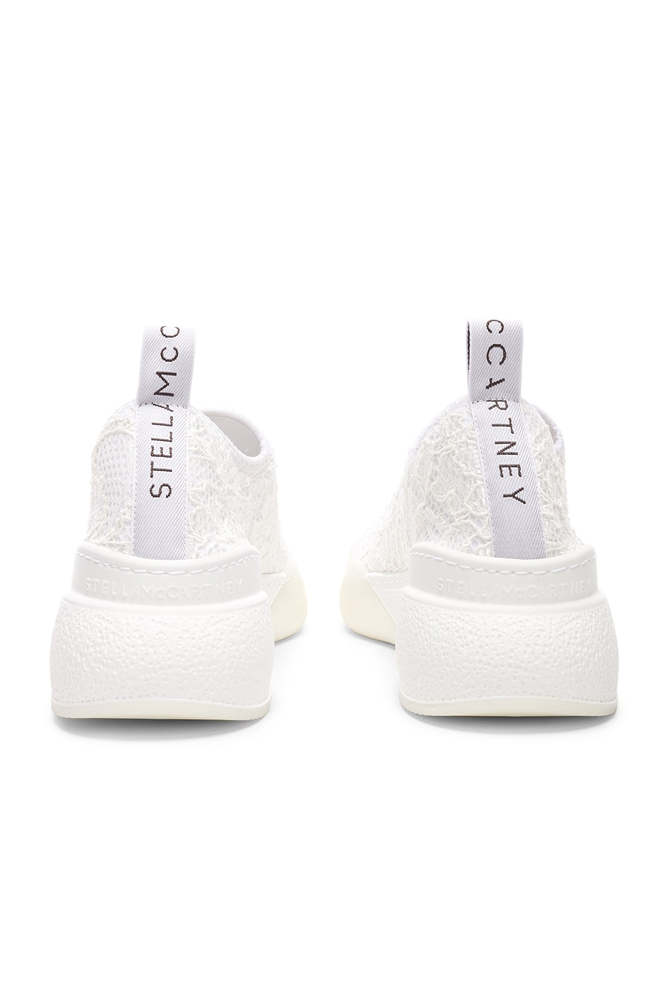 Image 7 of Stella McCartney Loop Sock Sneakers in White & Grey