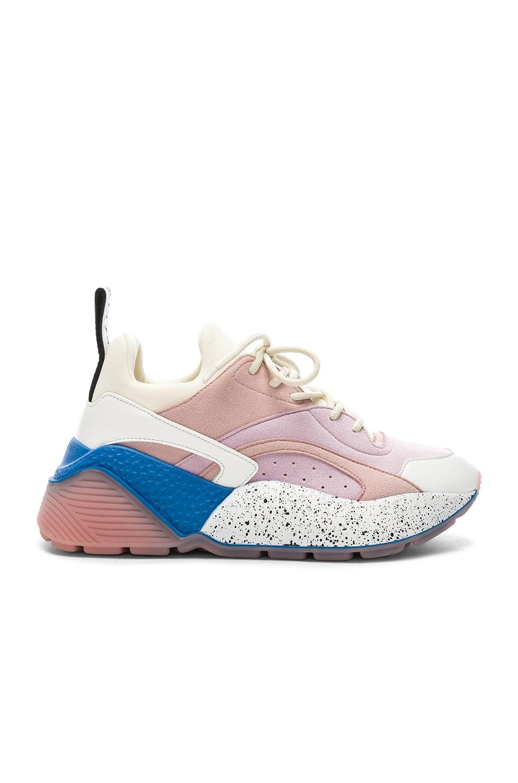 Image 1 of Stella McCartney Eclypse Sneakers in Rose, White & Multi