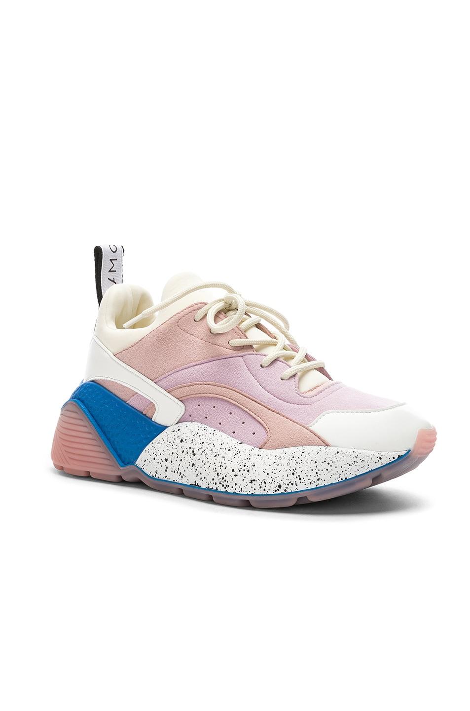 Image 2 of Stella McCartney Eclypse Sneakers in Rose, White & Multi
