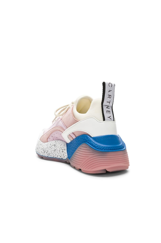Image 3 of Stella McCartney Eclypse Sneakers in Rose, White & Multi