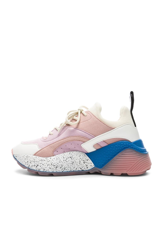 Image 5 of Stella McCartney Eclypse Sneakers in Rose, White & Multi