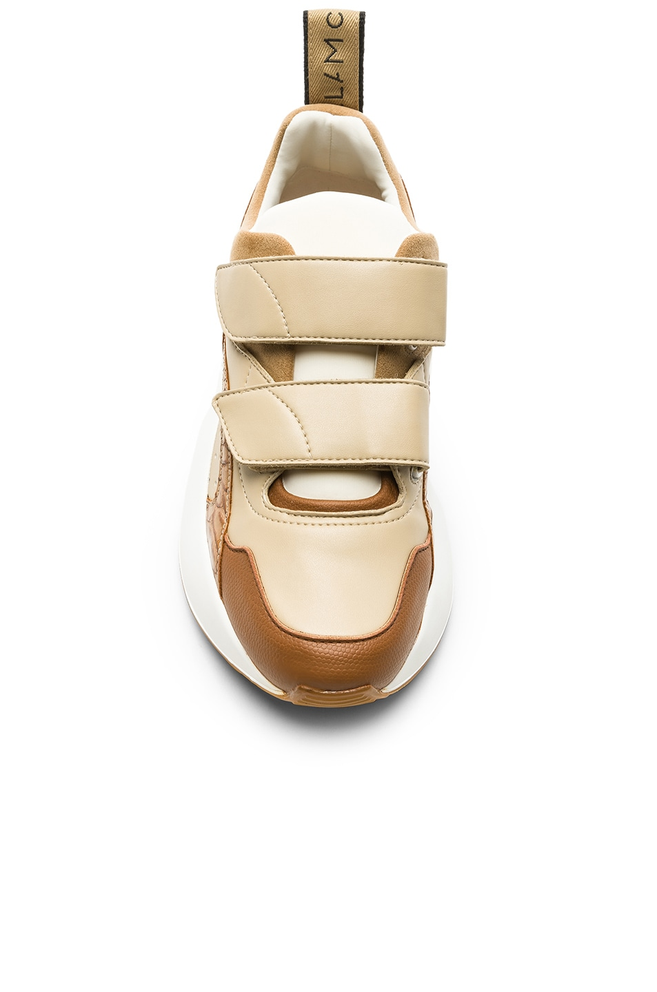 Image 4 of Stella McCartney Eclypse Velcro Strap Sneakers in Tan & White