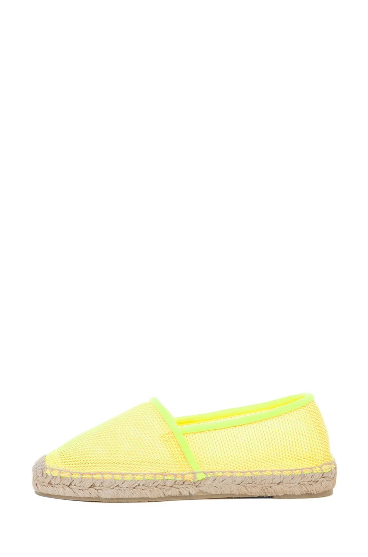 Image 1 of Stella McCartney Espadrille Flat in Neon Orange