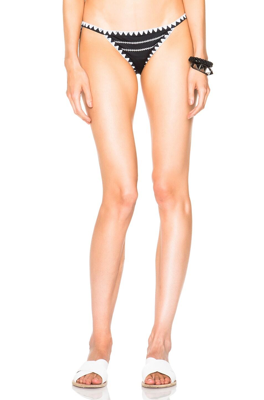 Image 1 of SAME Swim Tease Bikini Bottom in Black & White