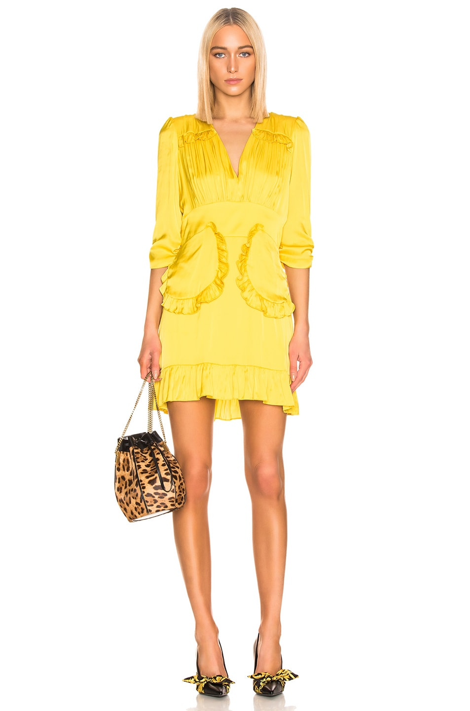 Image 1 of Smythe Mini Tea Dress in Dandelion
