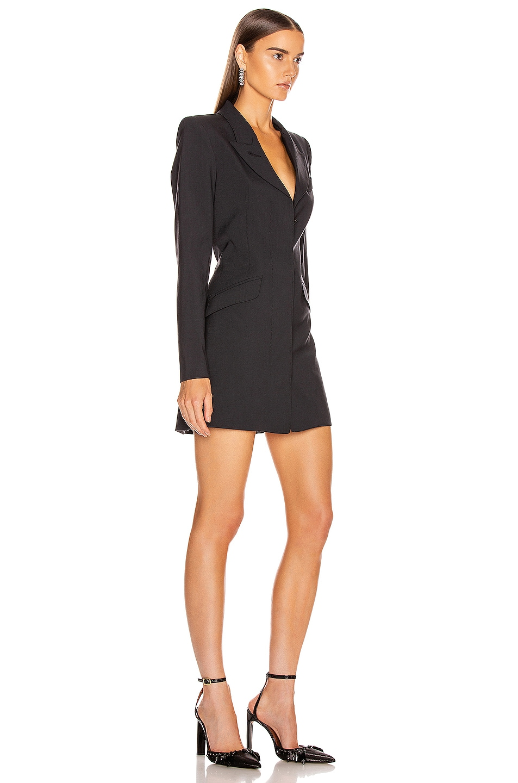 Image 2 of Smythe Zip Sleeve Coat Dress in Carbon
