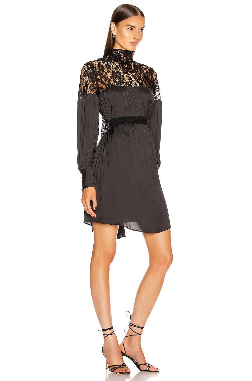 Image 2 of Smythe Belted Mini Lace Dress in Black