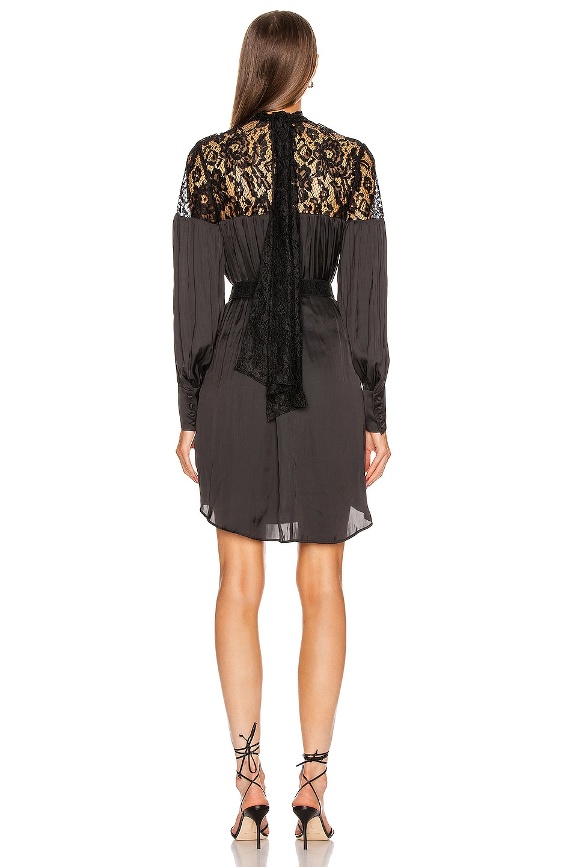 Image 3 of Smythe Belted Mini Lace Dress in Black