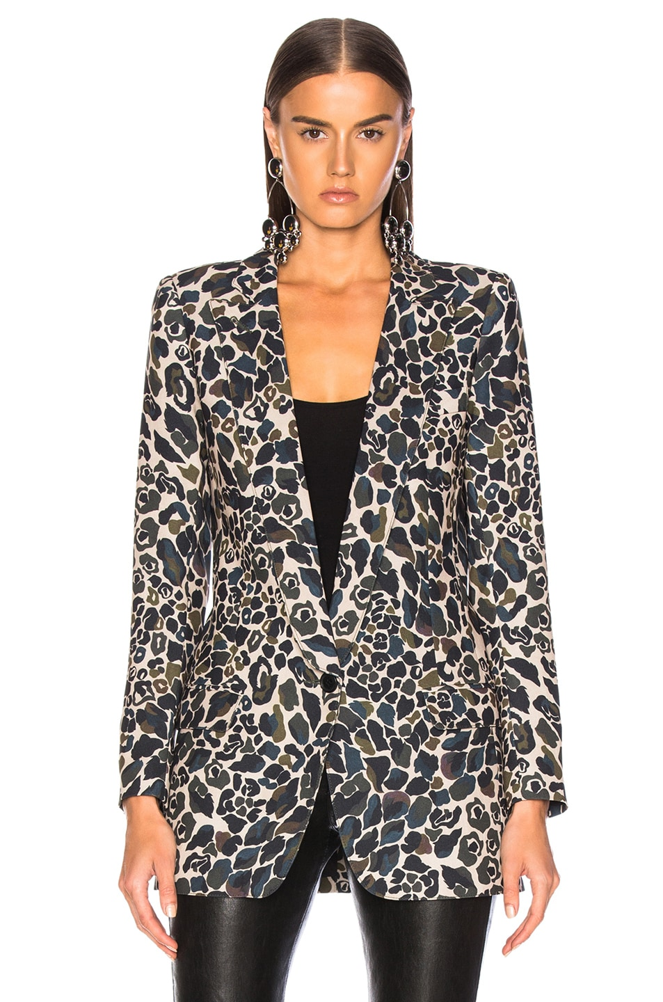 Image 2 of Smythe Long Notched Shawl Blazer in Camo Print