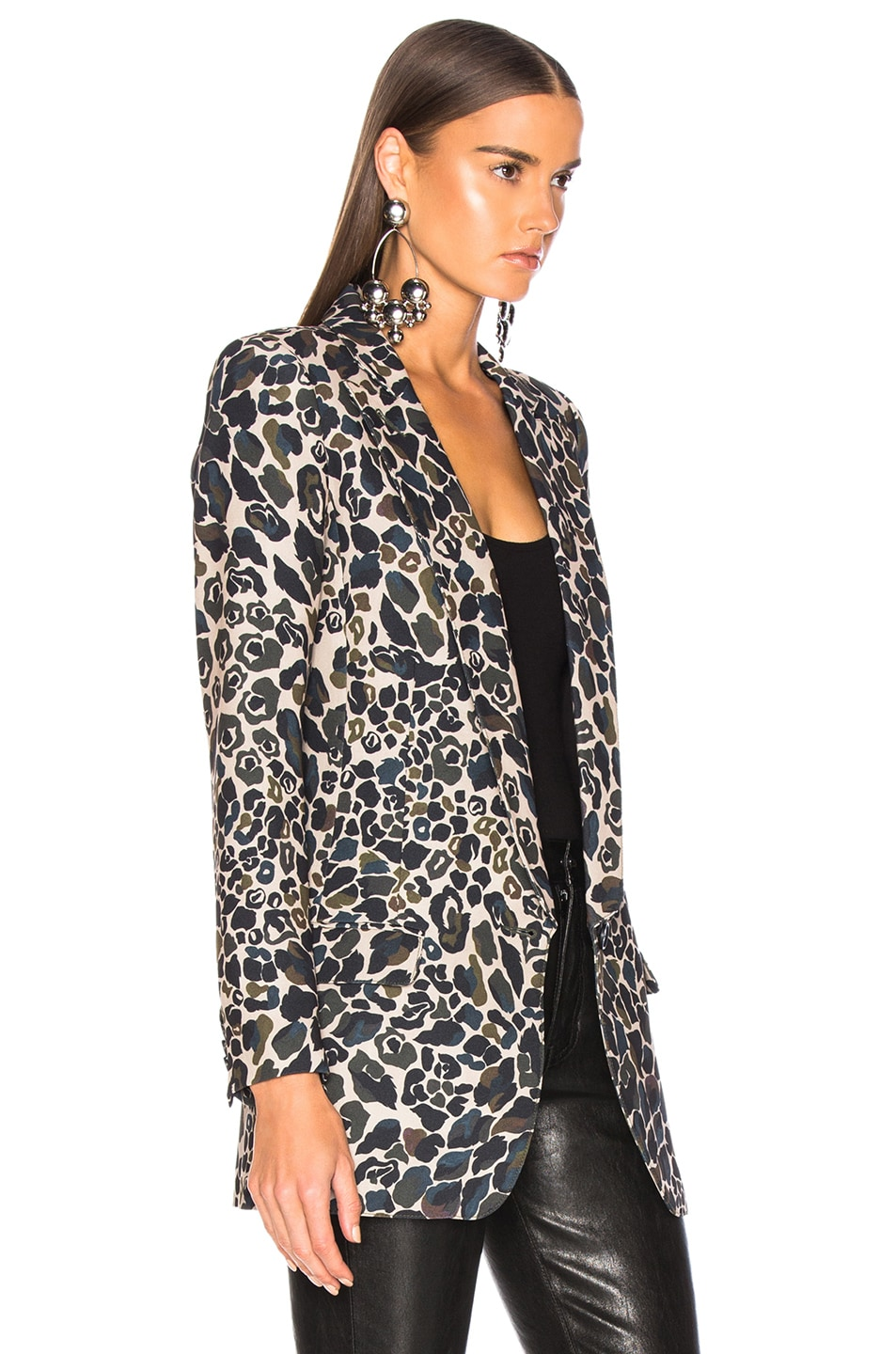 Image 3 of Smythe Long Notched Shawl Blazer in Camo Print