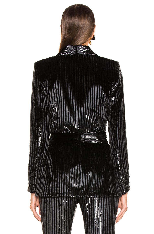 Image 4 of Smythe Velvet Tie Blazer in Black Lame Stripe