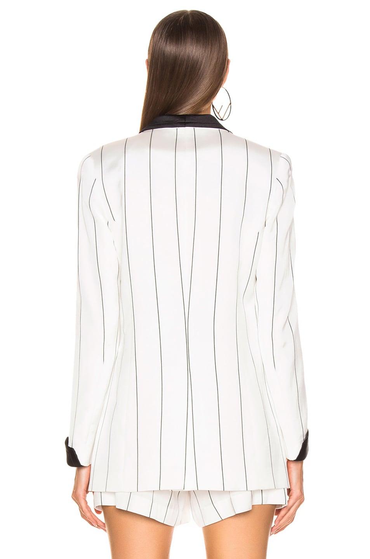 Image 4 of Smythe Salon Blazer in White & Black Diagonal Stripe