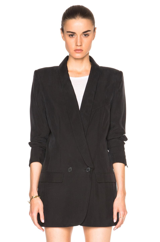 Smythe Oversized Blazer In Black Fwrd