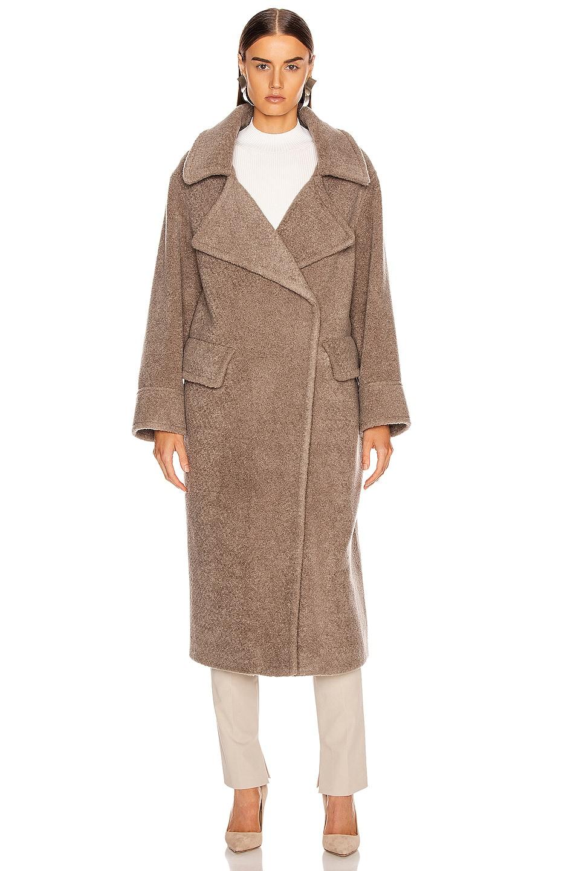 Image 2 of Smythe Teddy Coat in Greige