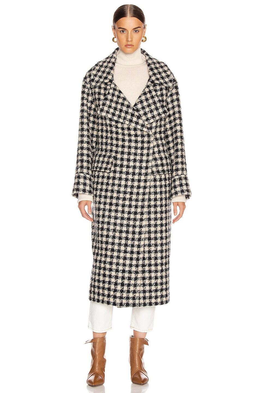 Image 2 of Smythe Blanket Coat in Navy & Black Check